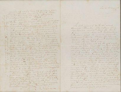 *Richard WAGNER. L.A.S., Paris 11 août 1860,...
