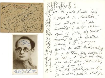 Jean WIÉNER (1896-1982) pianiste et compositeur....