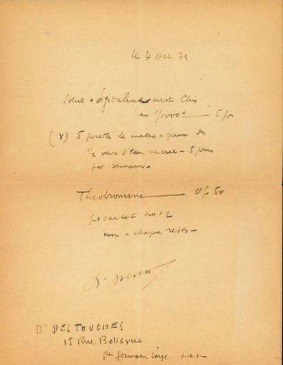 Louis-Ferdinand CÉLINE (1894-1961). L.A.S. «Louis-F.», [Saint-Germain-en-Laye]...