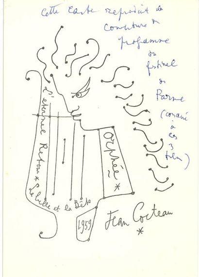 Jean COCTEAU. L.A.S., 20 mai 1959, à Robert...