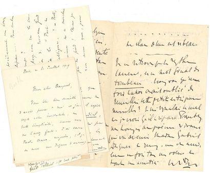 DIVERS. 19 lettres, la plupart L.A.S. à Gabriel...