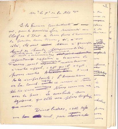 Roland DORGELÈS (1885-1973). Manuscrit autographe,...
