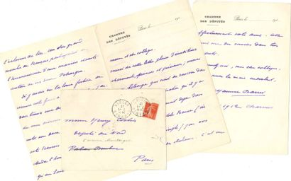 Maurice BARRèS (1862-1923). 49 L.A.S. (une...