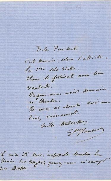 Gustave FLAUBERT. L.A.S., [Paris 10 avril...