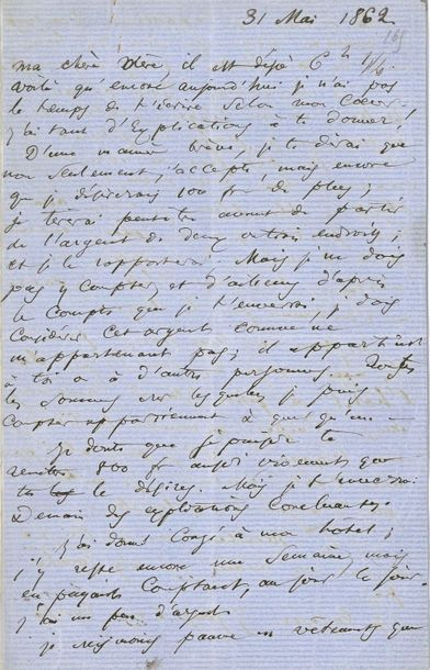 Charles BAUDELAIRE (1821-1867). L.A.S. «C.B.»...