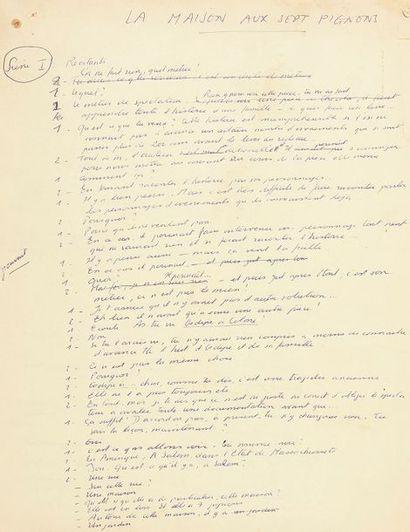 Pierre GRIPARI (1925-1990). Manuscrit autographe,...