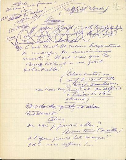 Sacha GUITRY (1885-1957). Manuscrit autographe;...