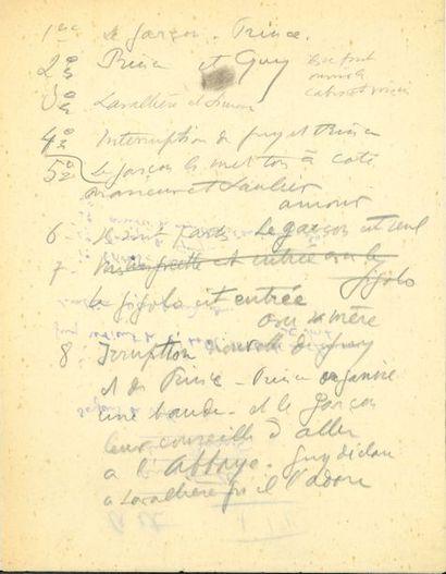 Sacha GUITRY. Manuscrits autographes et tapuscrits,...