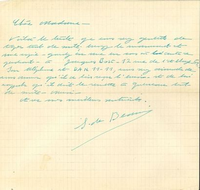 Simone de BEAUVOIR (1908-1986). 13 L.A.S.,...