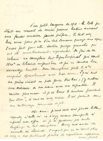 Max JACOB (1876-1944). 2 L.A.S., Saint-Benoît-sur-Loire...