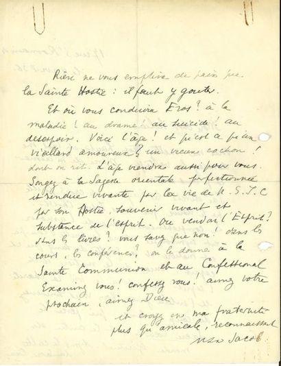 Max JACOB. L.A.S., Paris 8 avril 1936, à...