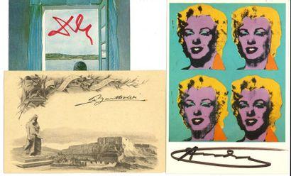 BEAUX-ARTS. 13 lettres ou pièces dont 11...