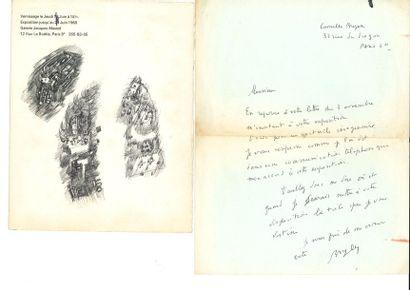 Camille BRYEN (1907-1977). L.A.S., [novembre 1960, à Jacques Polieri, organisateur...