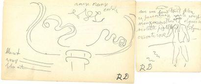 Raoul DUFY (1877-1953). 5 notes autographes...
