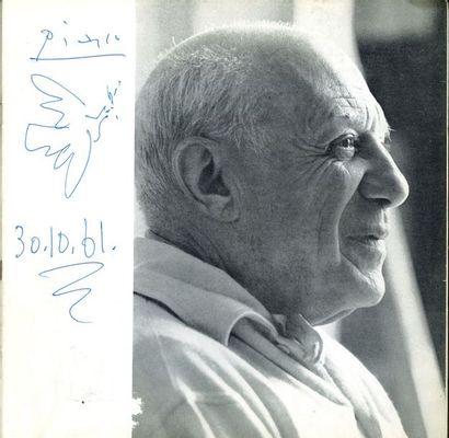 Pablo PICASSO (1881-1973). Dessin original avec signature et date autographes, avec...