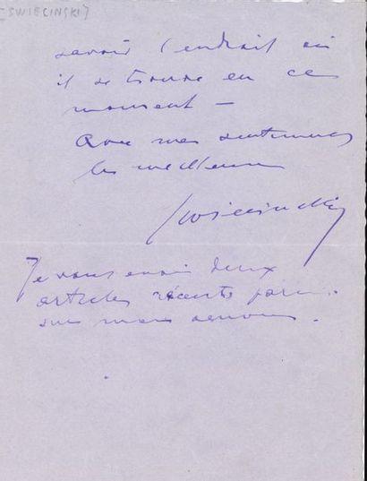 Georges-Clément de SWIECINSKI (1878-1958)...