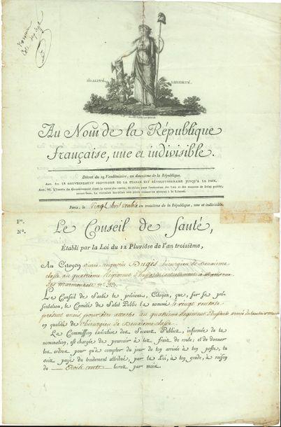 Conseil de Santé. L.S. par 10 médecins, Paris...