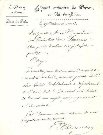 René Dufriche DESGENETTES (1762-1837) médecin...