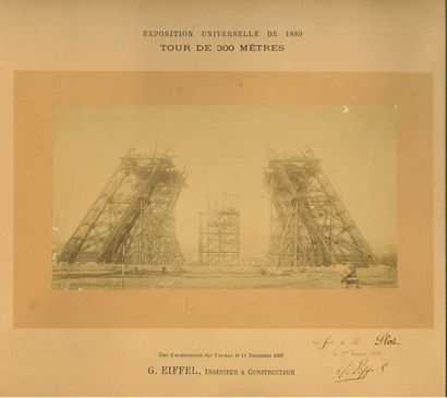 Gustave EIFFEL. Photographie avec dédicace...