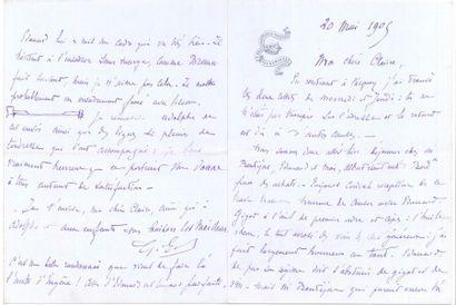 Gustave EIFFEL. L.A.S., Sallebœuf par Camarsac...