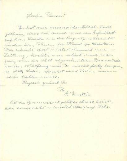Albert EINSTEIN (1879-1955). L.A.S. [au physicien...