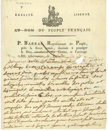 Paul BARRAS (1755-1829) homme politique,...