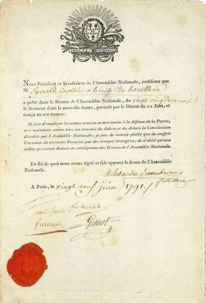 Alexandre de BEAUHARNAIS (1760-1794) général...