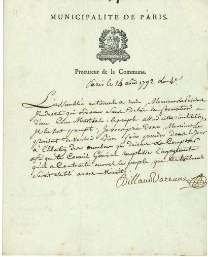 Jacques-Nicolas BILLAUD-VARENNE (1756-1819)...