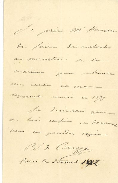 Pierre Savorgnan de BRAZZA (1852-1905) explorateur...