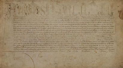 Bulle papale. Bulle manuscrite d'ADRIEN VI...
