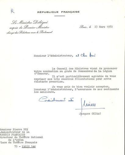 Jacques CHIRAC (né 1932) président de la...