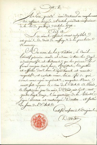 Georges Jacques DANTON (1759-1794) avocat,...