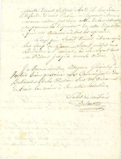 Jean-Louis DELMOTTE (1752-1816) contre-amiral....
