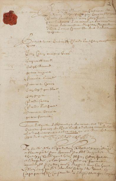 DRAPIERS. Registre manuscrit des procès-verbaux...