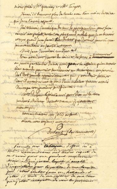 Pierre-Samuel DUPONT DE NEMOURS (1739-1817)...