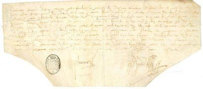 FACTURES ET QUITTANCES. 6 pièces manuscrites,...