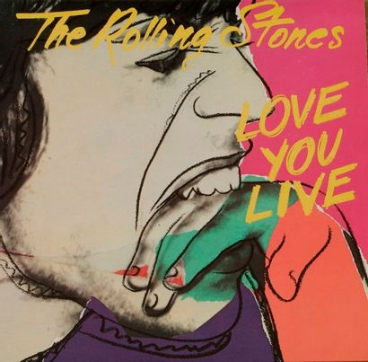 [ANDY WARHOL] - THE ROLLING STONES « Love...