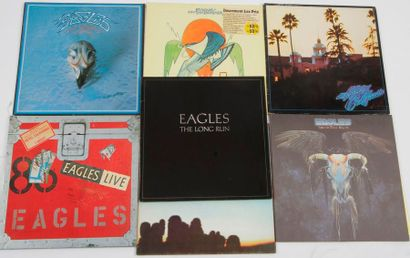 EAGLES Ensemble de 7 disques 33 T. 31 x 31...