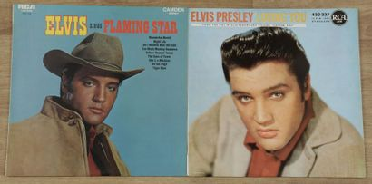 ELVIS PRESLEY 2 disques « Flaming star »...