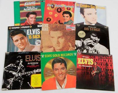 ELVIS PRESLEY Ensemble de 9 disques 33 T....