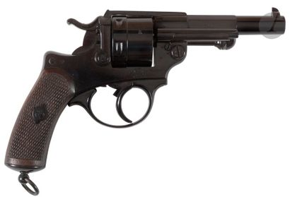 Revolver d'ordonnance modèle 1873 S.1877, calibre 11 mm / 73. Carcasse marquée «...