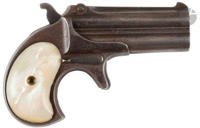 Pistolet Derringer Remington over under n°2, deux coups, calibre 41 annulaire. Canons...