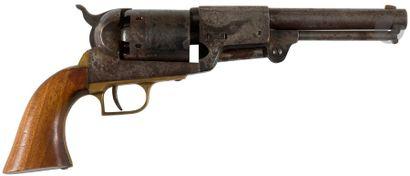 Revolver Colt Dragoon modèle 1848, six coups, calibre 44. Barillet gravé. Finition...