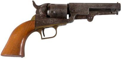 Revolver Colt Pocket modèle 1849, cinq coups, calibre 31. Finition vieillie. A.B.E....