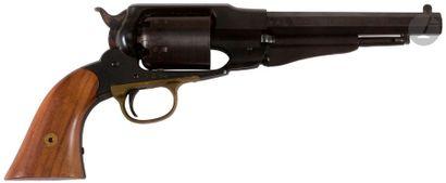 Revolver Remington modèle 1858 Navy, six coups, calibre 36. Finition bronzée. B.E....