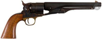 Revolver Colt Army modèle 1860, six coups, calibre 44. Finition bronzée et jaspée....