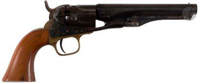Revolver Colt police modèle 1862, à poudre noire, cinq coups, calibre 36. Bâti en...