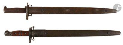 Deux baïonnettes U.S., un modèle 1905 daté...