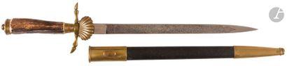 Couteau de vénerie allemand. Poignée en bois...