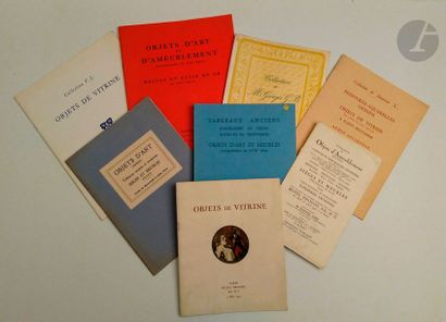 Bel ensemble de dix catalogues : - Collection...